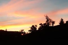 Coucher de soleil sur Mollenberg