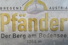 Pfander en Autriche panorama à 360° sur le Bodensee