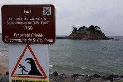 Le Fort du GUESCLIN qui fut la résidence de Léo Ferret