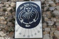 "Cadran solaire ""Lo temps passa, passa-lo ben"" de Ben"
