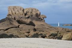 Trégastel - Sable et granit rose