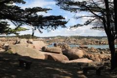Chaos de granite rose de l'île Renote