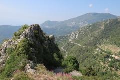Vue sur la montagne depuis Sainte-Agnès