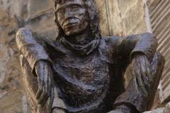 Le Badaud, de Gérard Auliac sculpteur. 17 janvier 2002